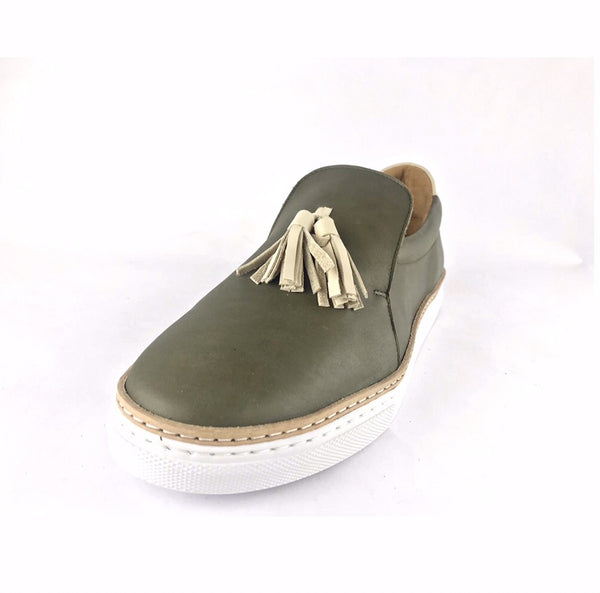 Shokunin Shoes - Tassel Loafers - Kale Green