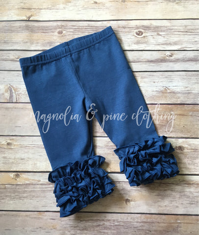 Blueberry Ruffle Capris