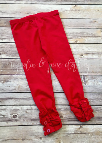 Red Button Leggings