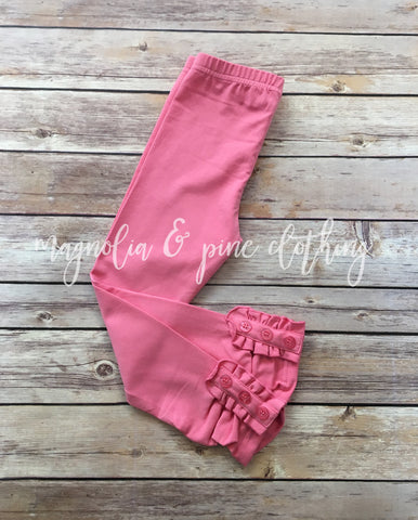 Rose Button Leggings