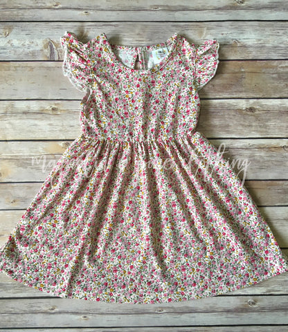 Spring Flowers Flutter Dress