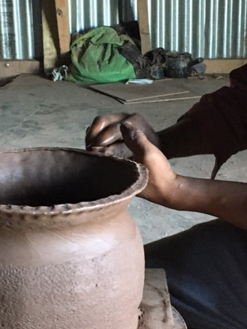 The process of Making black Clay pottery of Longpi, Manipur for Terra Klay