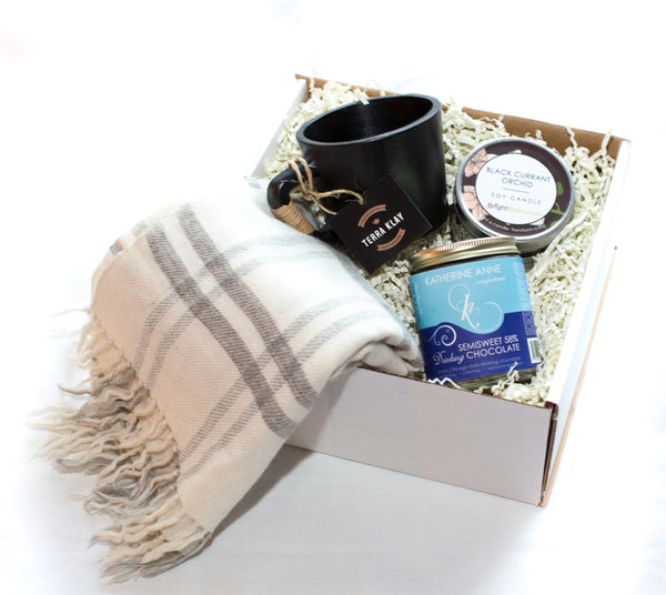 Mug and Handmade Scarf Gift Box