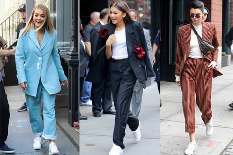 women in oversized suits