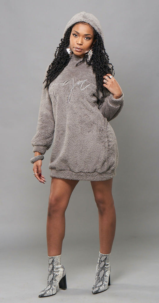 Elise Teddy Sweatshirt Dress ayamorrison