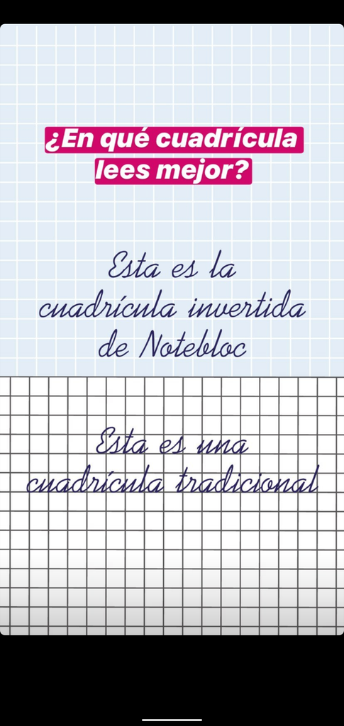 Notebloc - Cuadrícula Invertida - Hojas A4 color lateral Rosa