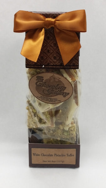 White Chocolate Pistachio Toffee