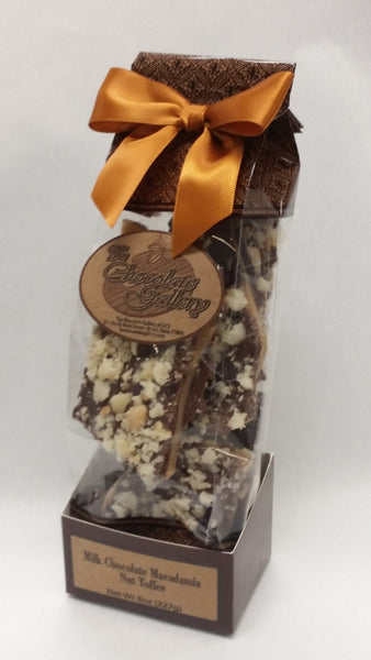Milk Chocolate Macadamia Toffee