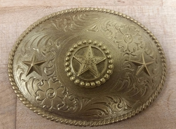 Chocolate Western Belt Buckle - Texas Star