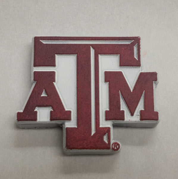 NEW! Chocolate Texas A&M Block ATM Logo in Maroon & White - Medium