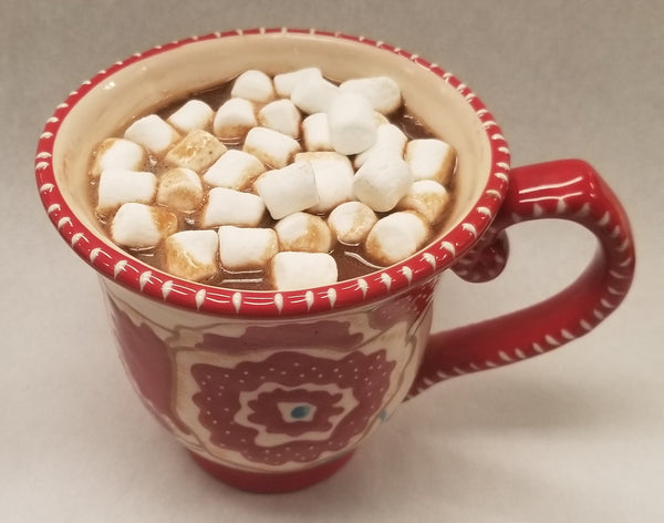 "Hot Cocoa ""Bomb"" Mexican Hot Chocolate - Dark Chocolate Shell with Mexican Hot Cocoa Mix & Marshmallows"