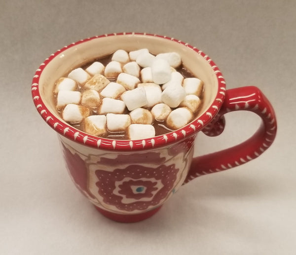 "Hot Cocoa ""Bomb"" Peppermint - Dark Chocolate Shell with Peppermint Hot Cocoa Mix & Marshmallows"