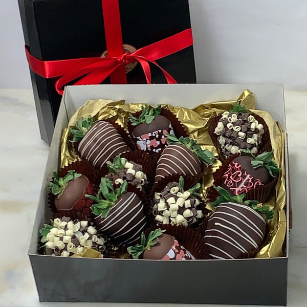 Chocolate Dipped Strawberries - Box of 12 - Pre-Order for Valentines Day!