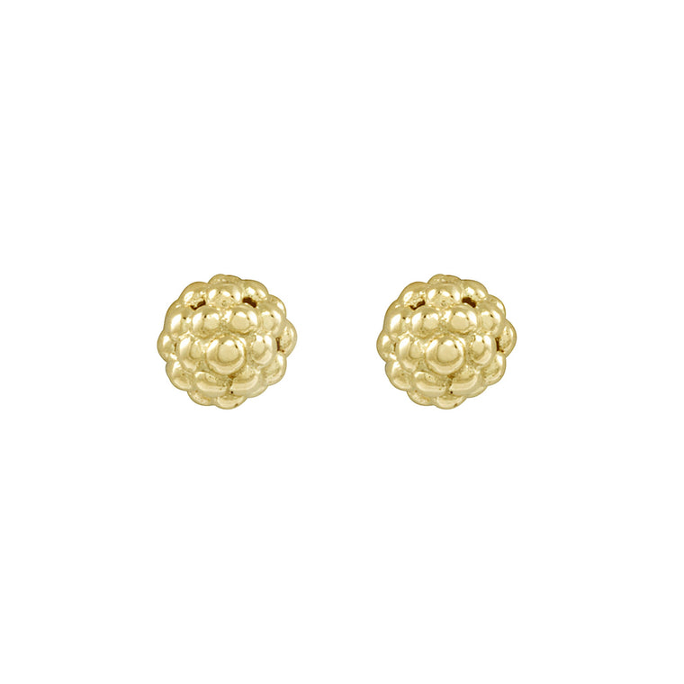 Lagos Caviar Gold Beaded Stud Earrings