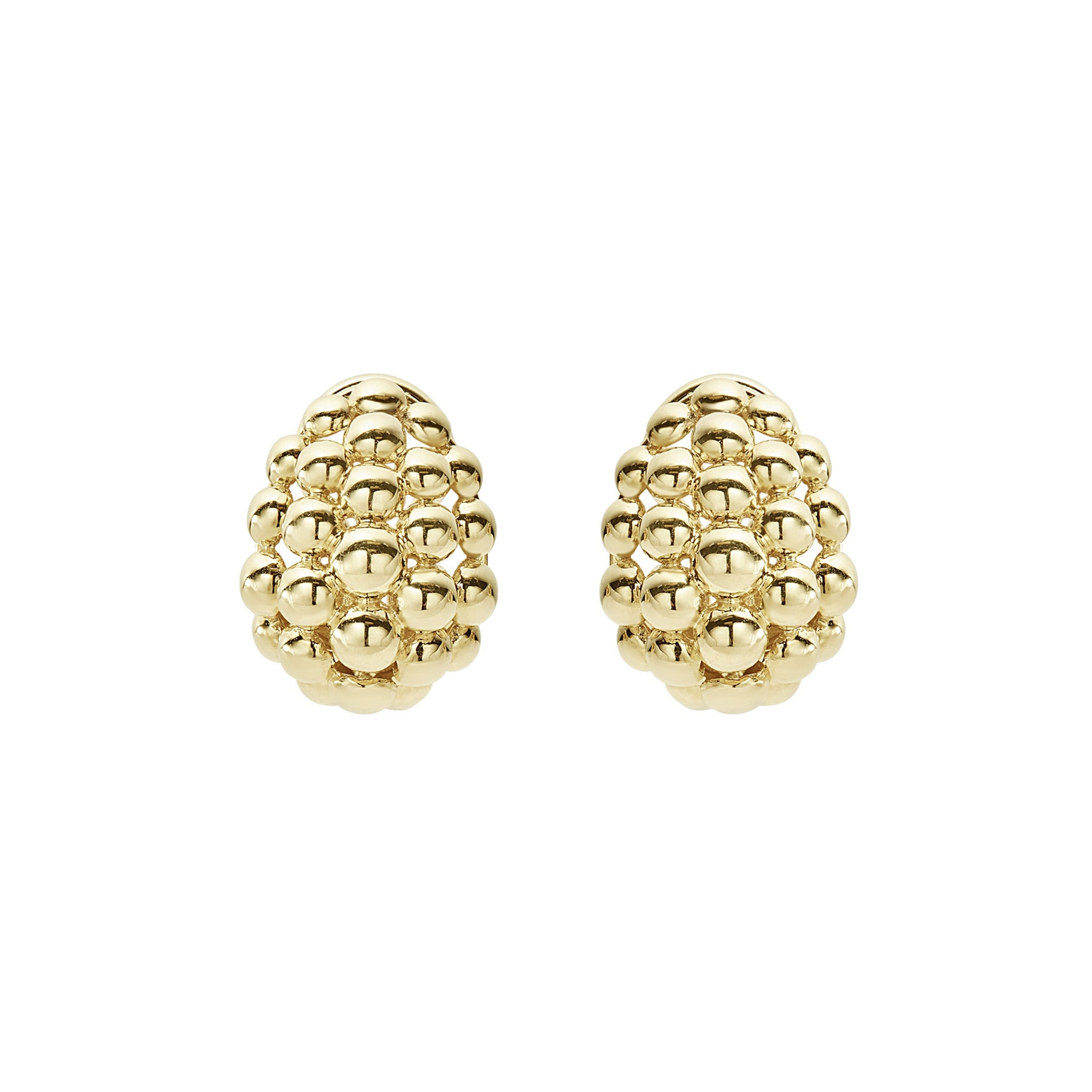 Lagos Caviar Gold Earrings