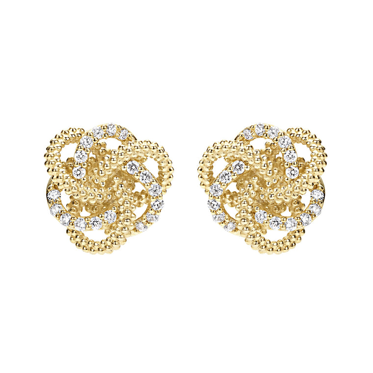 Lagos Love Knot Diamond Earrings