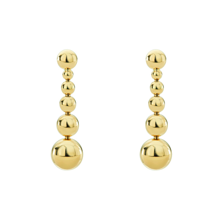 Lagos Caviar Gold Drop Earrings
