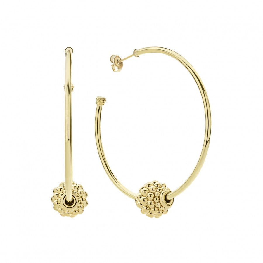 LAGOS Caviar Gold Hoop Earrings