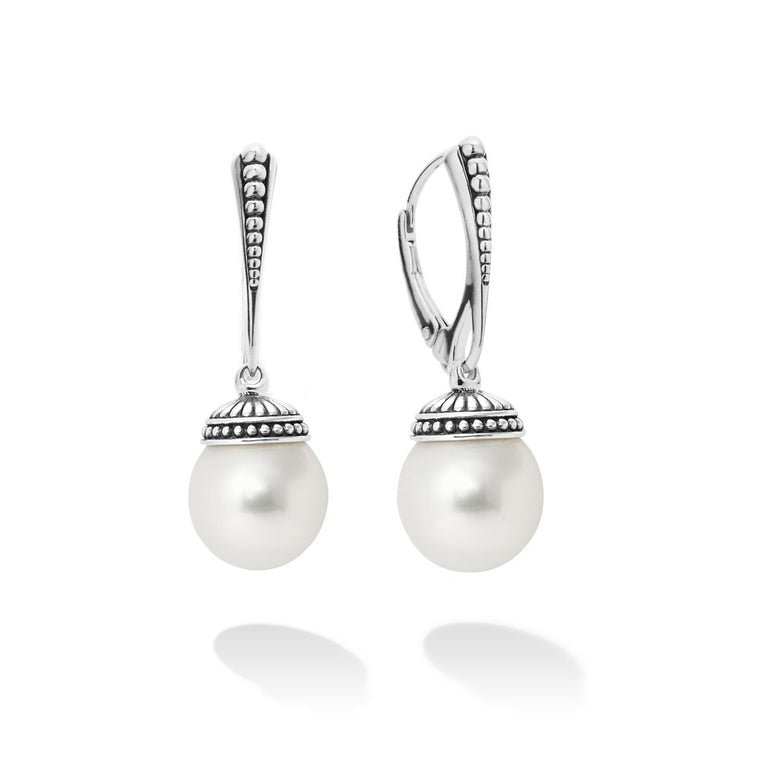Lagos 'Luna' Pearl Drop Earrings