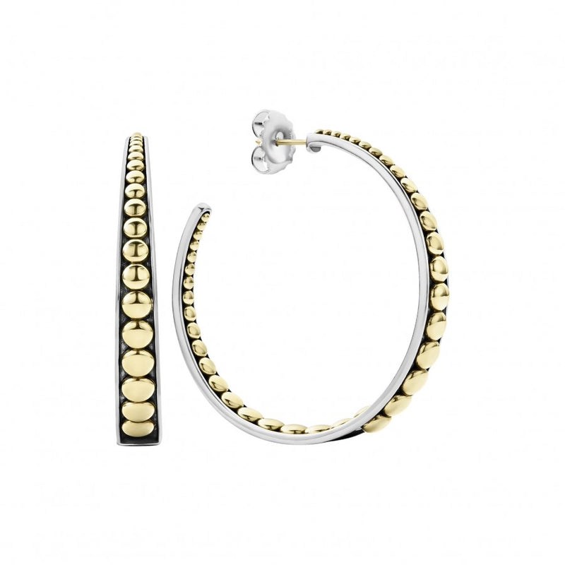 Lagos 'Signature Caviar' Hoop Earrings