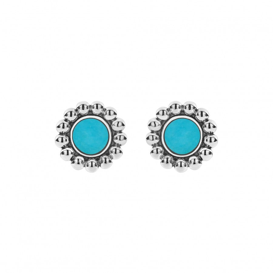 Lagos 'Maya' Circle Stud Earrings with Turquoise