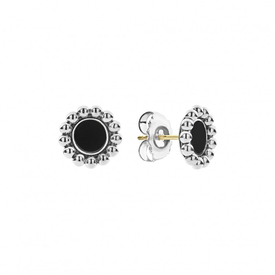 LAGOS 'Maya' Black Onyx Stud Earrings