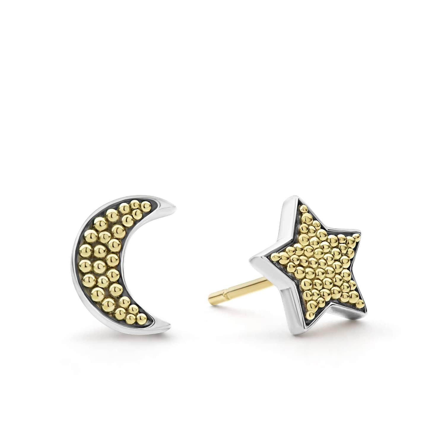 LAGOS 'Signature Caviar' Moon & Star Stud Earrings