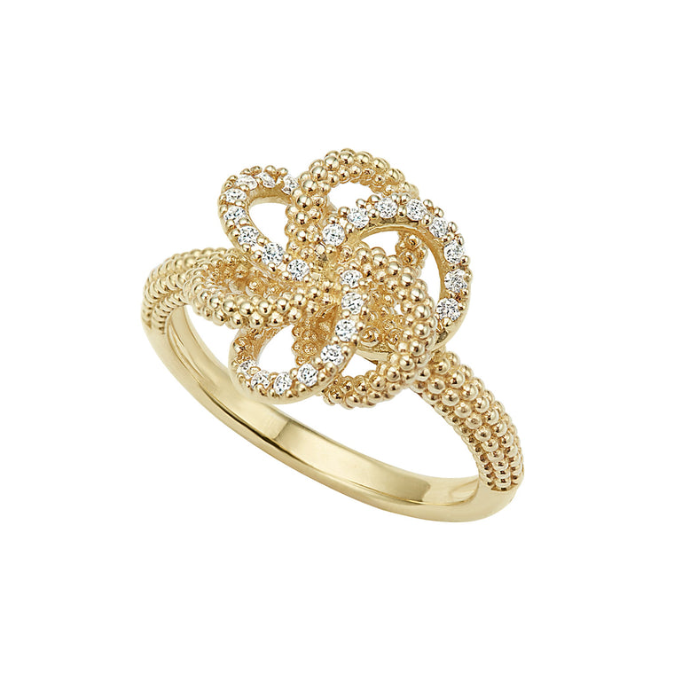 Lagos Love Knot Diamond Ring