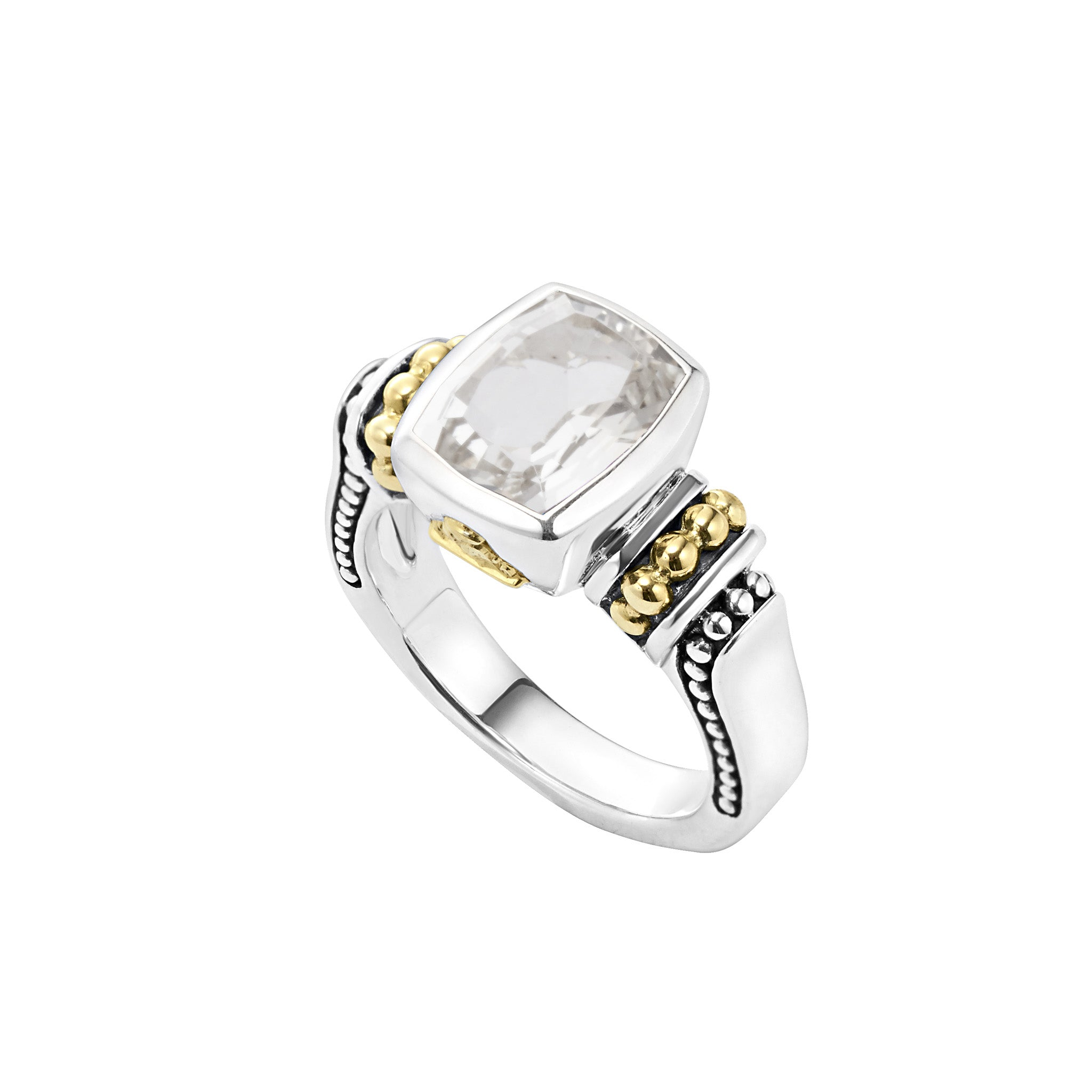 Lagos 'Caviar Color' White Topaz Ring