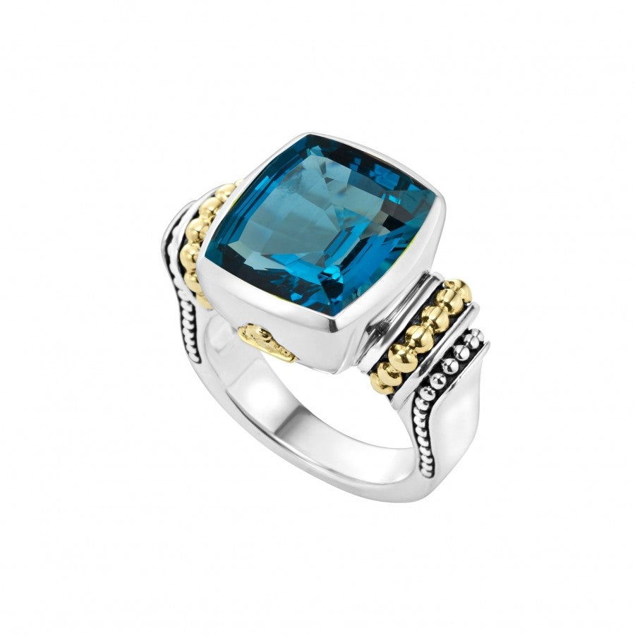 Lagos 'Caviar Color' London Blue Topaz Ring