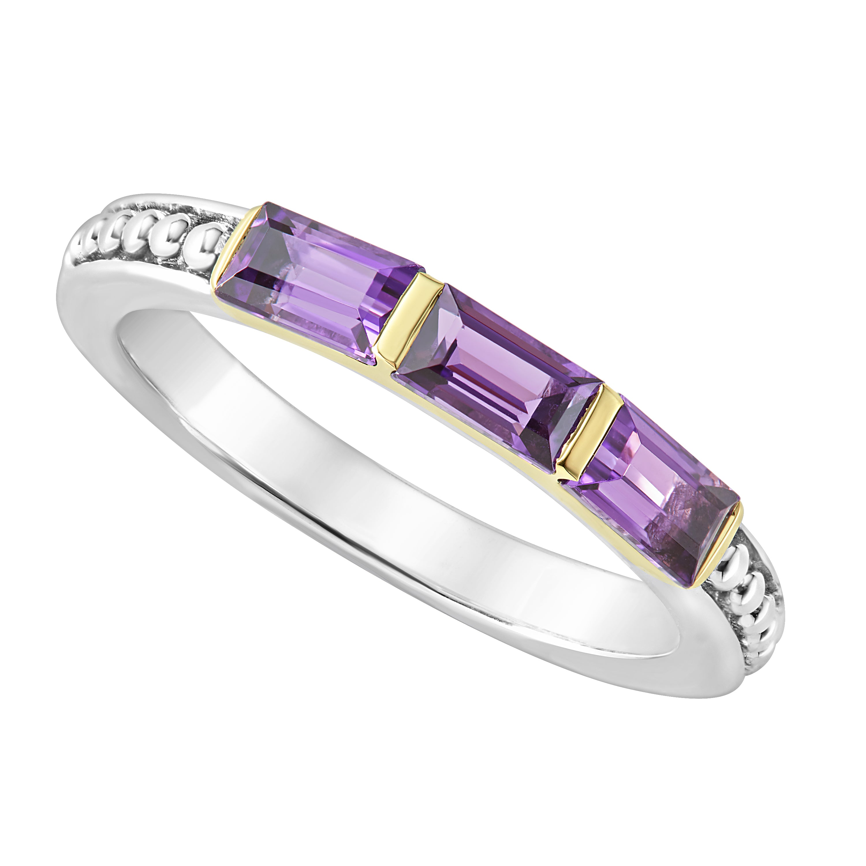 Lagos Amethyst Stacking Ring