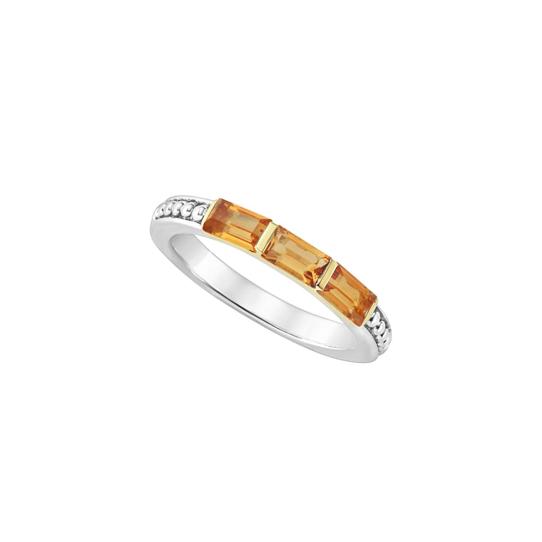 Lagos Citrine Stacking Ring