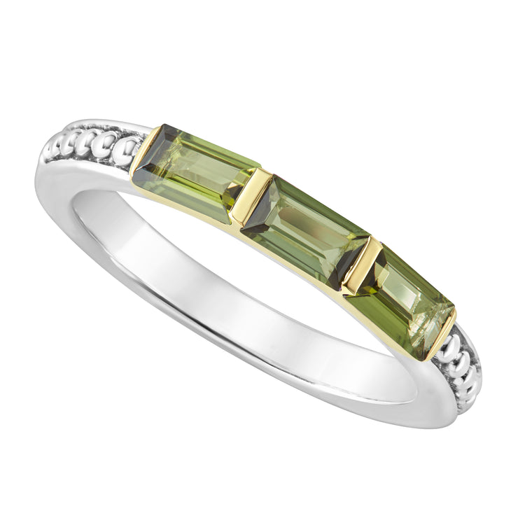 Lagos Green Tourmaline Stacking Ring