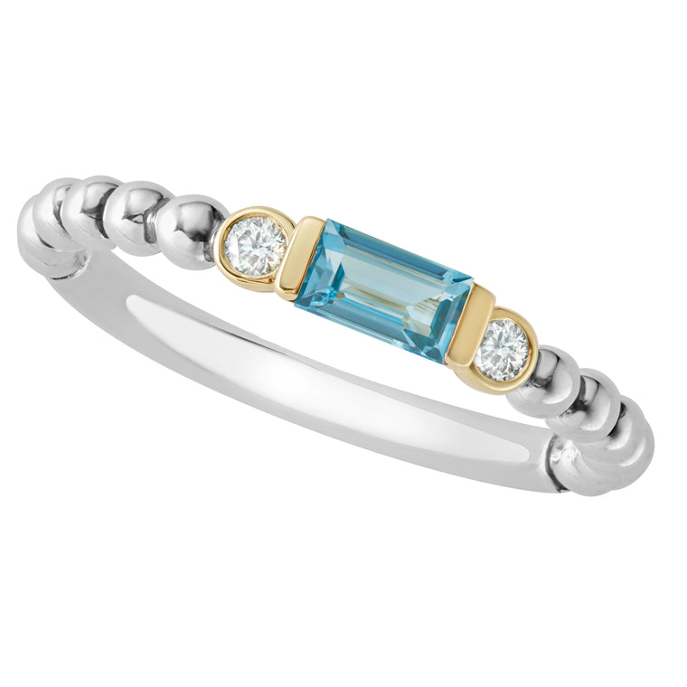 Lagos Blue Topaz Stacking Ring