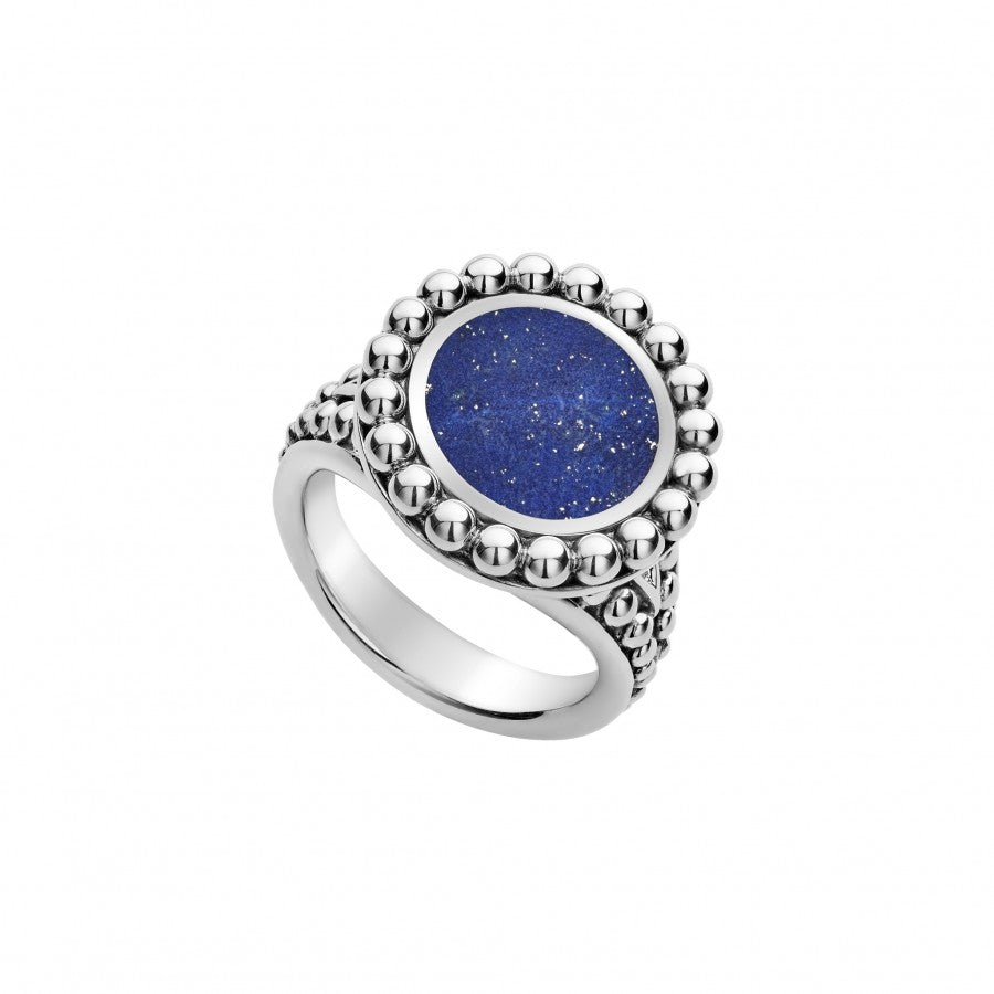 Lagos 'Maya' Circle Ring with Lapis