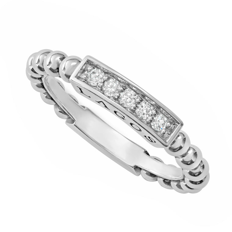 Lagos Caviar Spark Diamond Ring