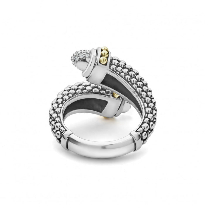 LAGOS 'Signature Caviar' Diamond Crossover Ring