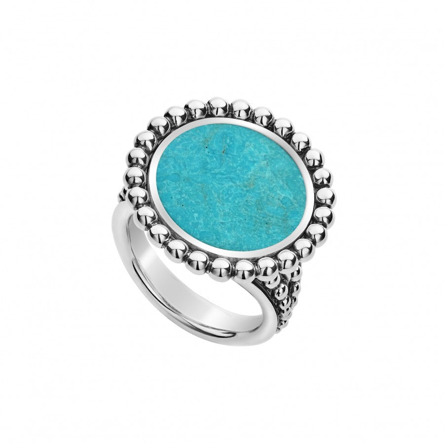 LAGOS 'Maya' Ring with Turquoise