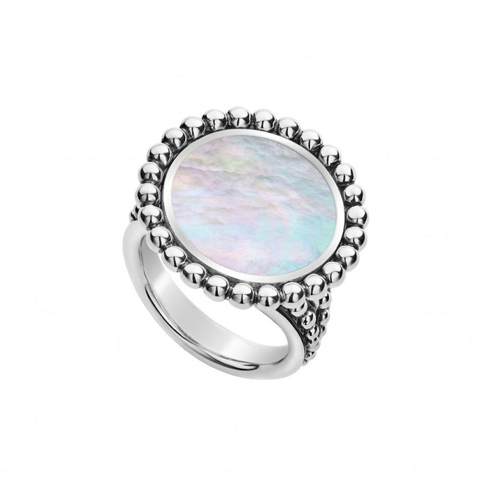LAGOS 'Maya' Circle Ring with White Mother of Pearl