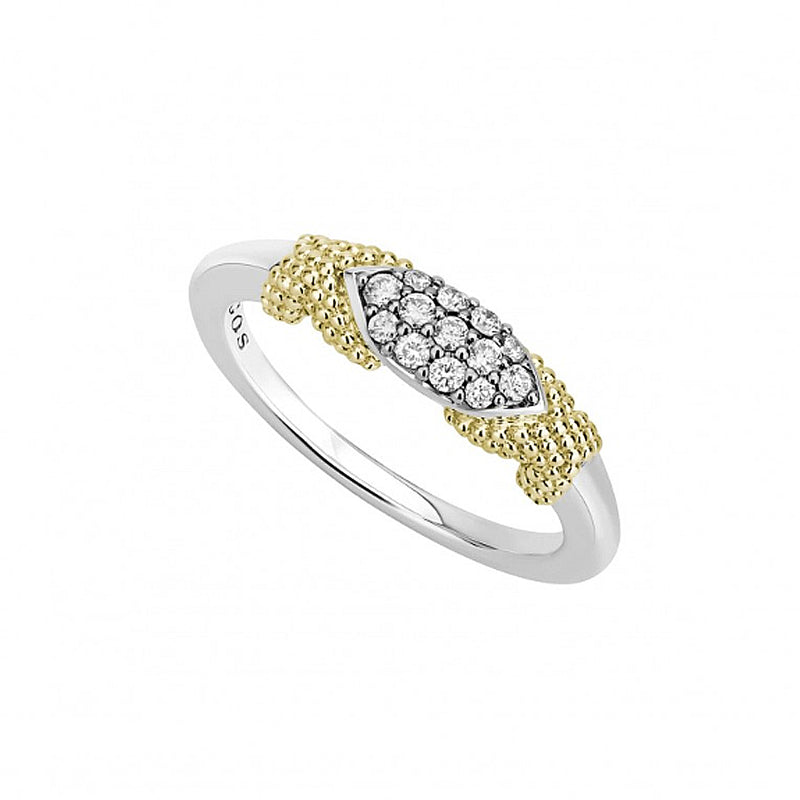 LAGOS 'Caviar Lux' Diamond Stacking Ring