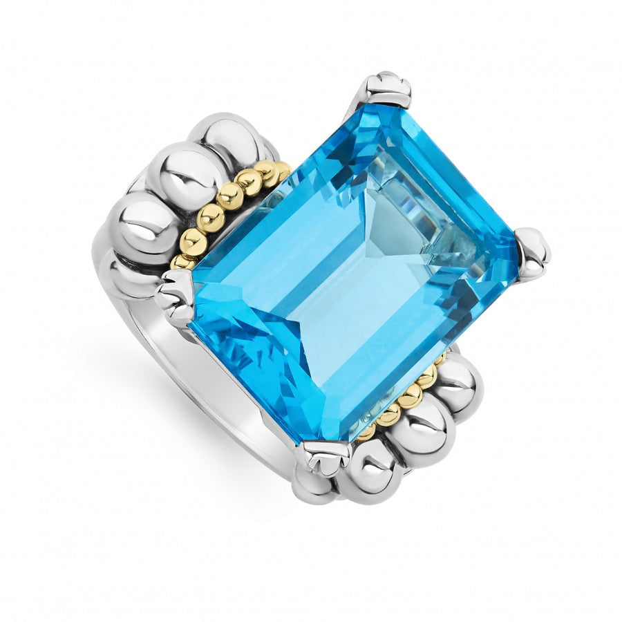 LAGOS Glacier Gemstone Ring with Blue Topaz