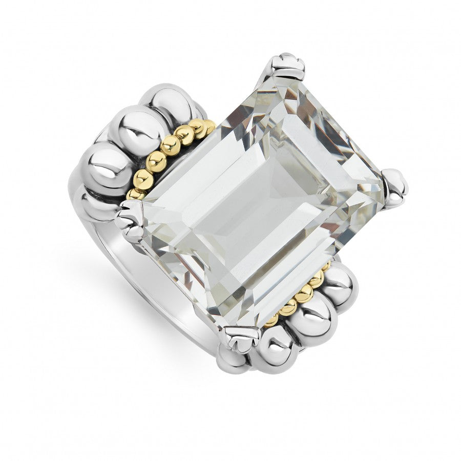 LAGOS Glacier Gemstone Ring with White Topaz