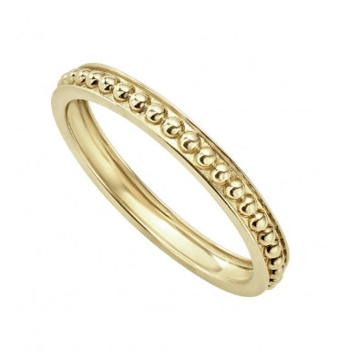 LAGOS 18k Gold Caviar Beaded Stacking Ring