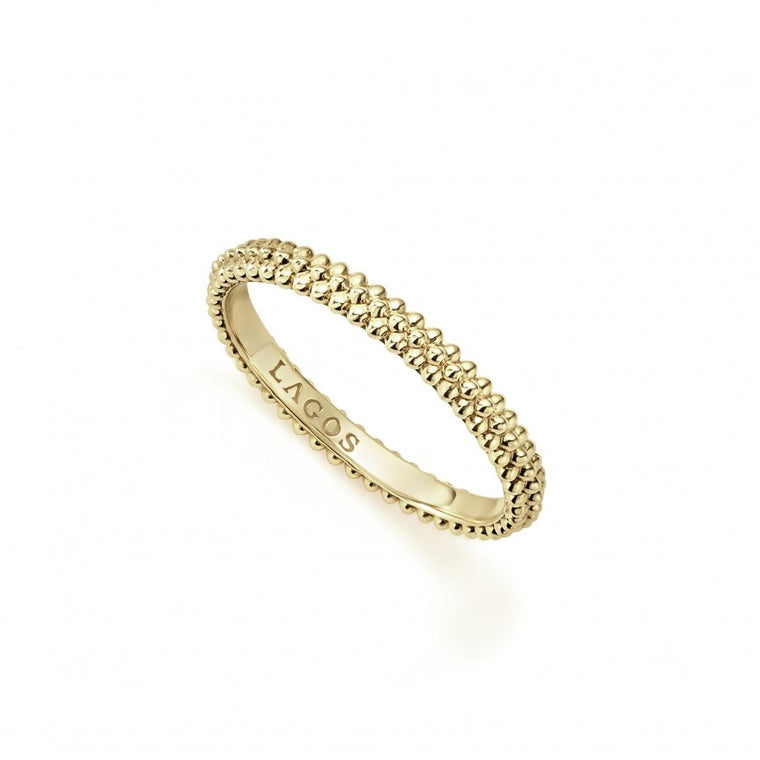 LAGOS Caviar Gold Stacking Ring