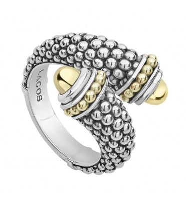 LAGOS 18k Gold and Sterling Silver Crossover Ring