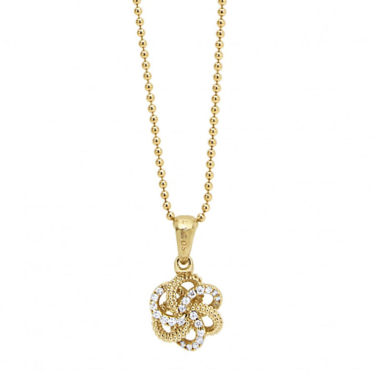 LAGOS 18k Gold Love Knot Pendant Necklace
