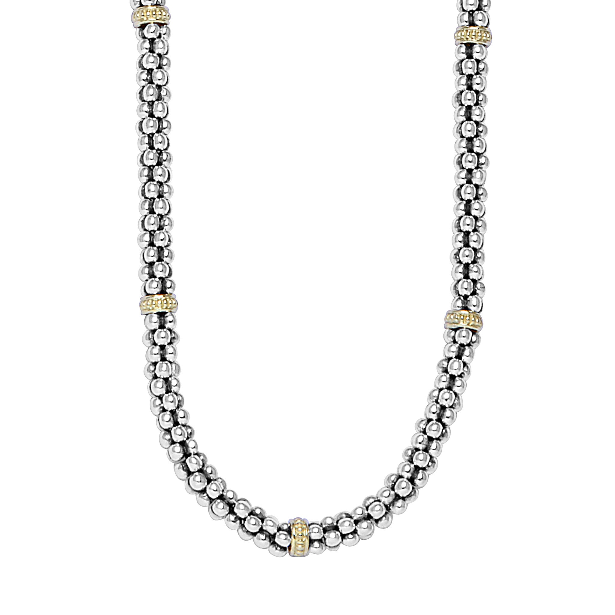 Lagos 'Signature Caviar' Beaded Necklace with Gold