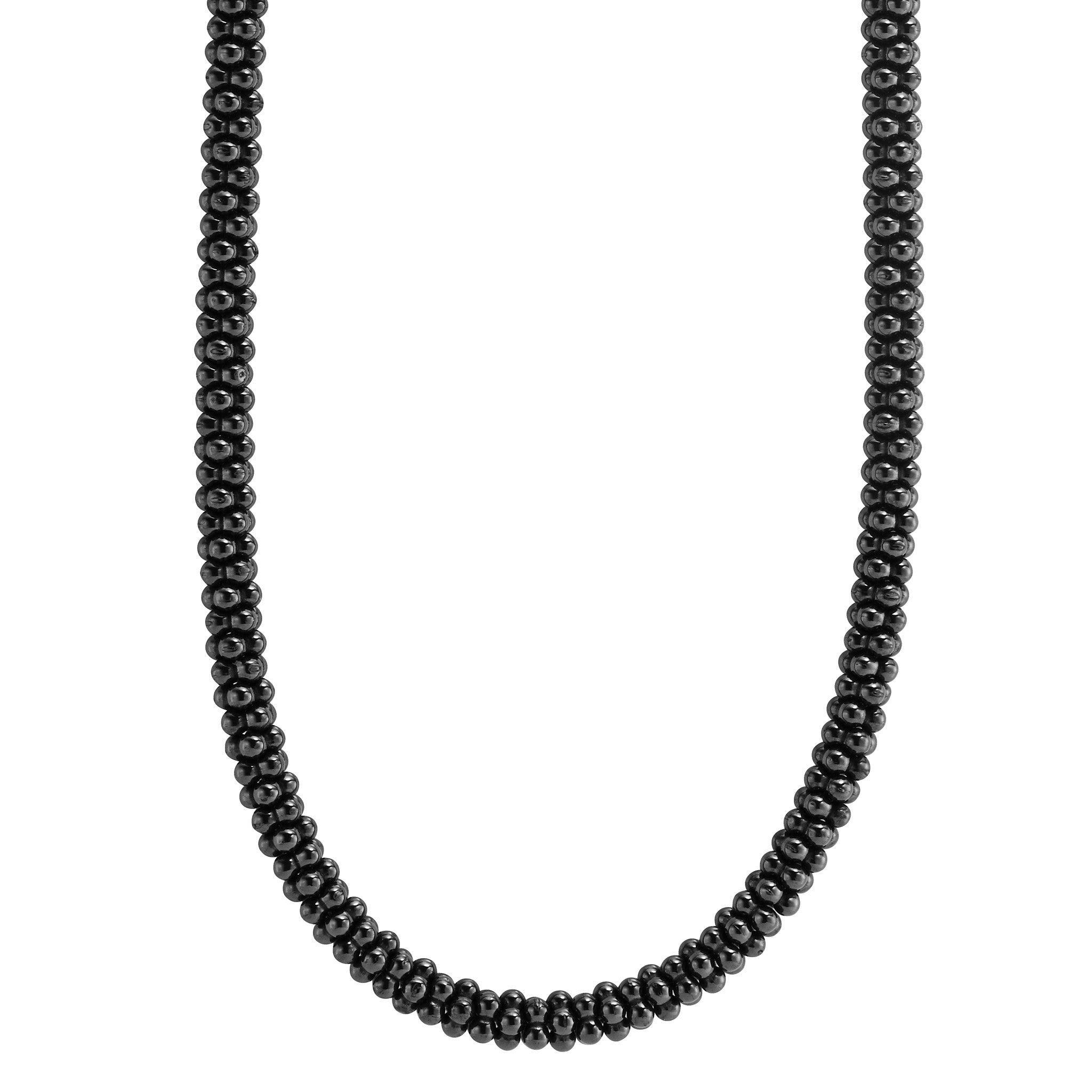 Lagos 'Black Caviar' Beaded Necklace