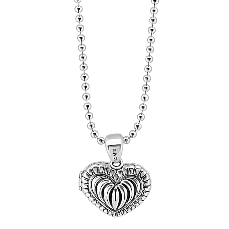 Lagos 'Beloved' Heart Locket Necklace