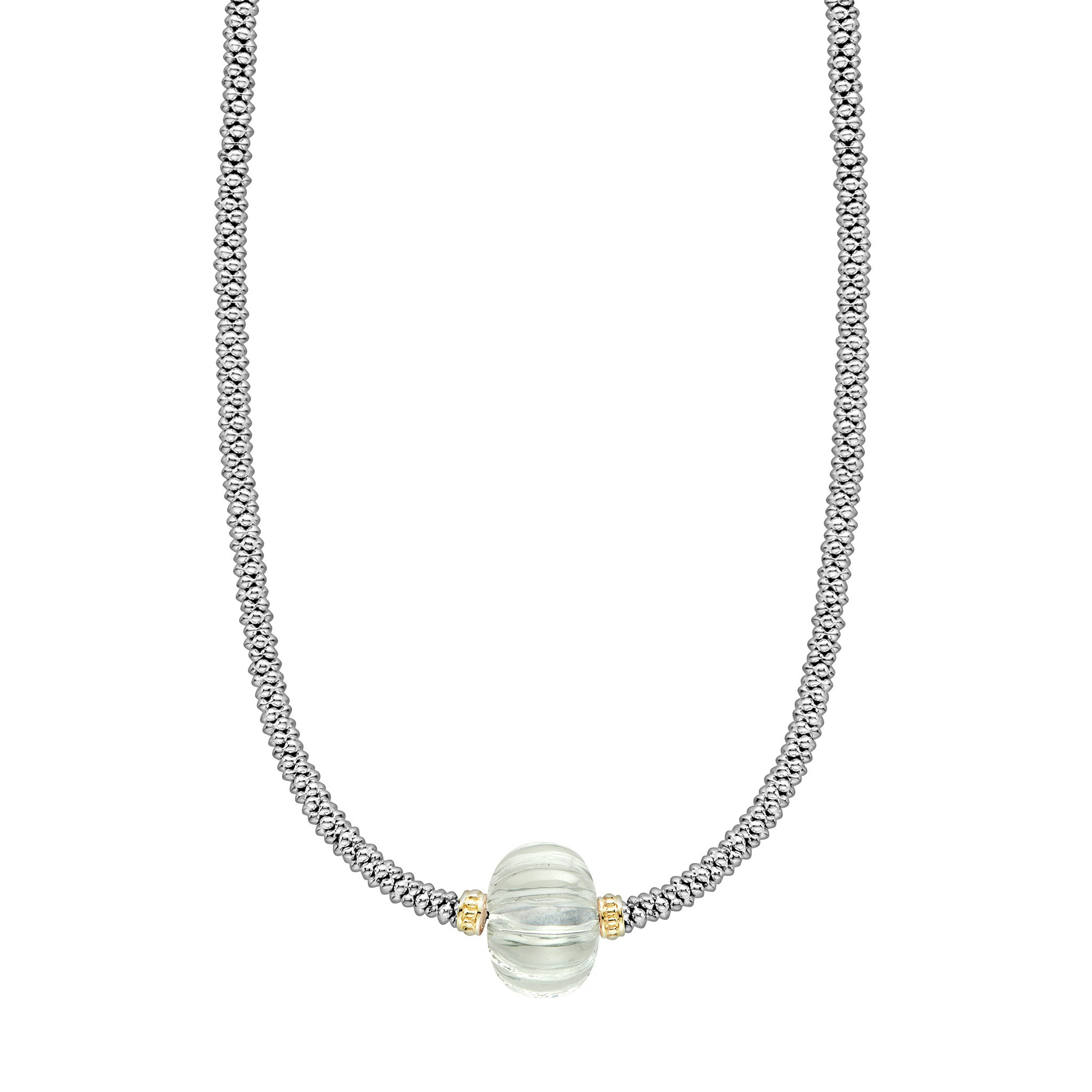 Lagos 'Caviar Forever' Green Amethyst Necklace